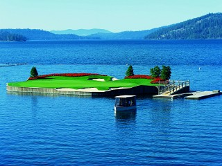 Coeur d Alene Resort Golf Course  in Coeur d Alene, Idaho.