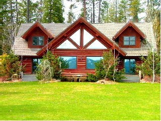 Oden Bay Log Home - Sandpoint, Idaho vacation cabin rental (