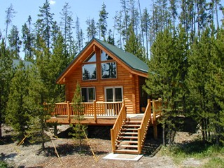 The pines at island park 1 bedroom loft cabin island for Compact cottages georgia