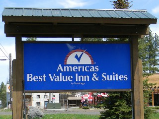 Americas Best Value Inn & Suites   in McCall, Idaho.