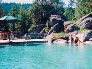 Gold Fork Hot Springs in Donnelly, Idaho.