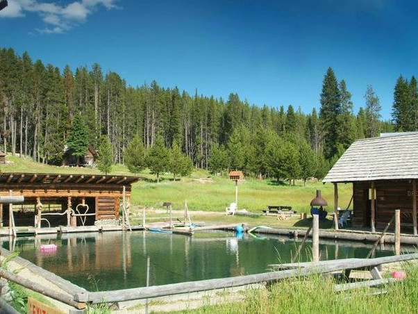 Hot Springs in the McCall Area in McCall, Idaho.