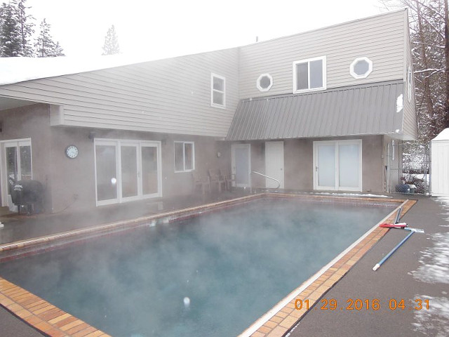 Snowsprings - Geothermal Pool House in Garden Valley, Idaho.