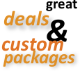 deals packages and discounted specials in Cascade