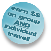 Earn on group and individual travel