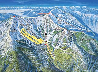 Schweitzer Bowl Trail Map