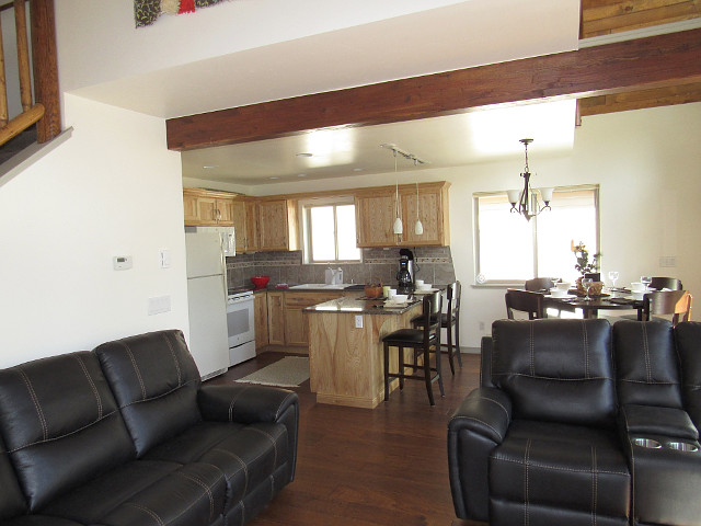 Living Room into Kitchen/Dining Area